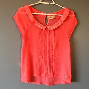 Hollister Sheer Rhinestone Top